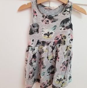 H&M pastel 🐈 kitty dress, size 18-24 months